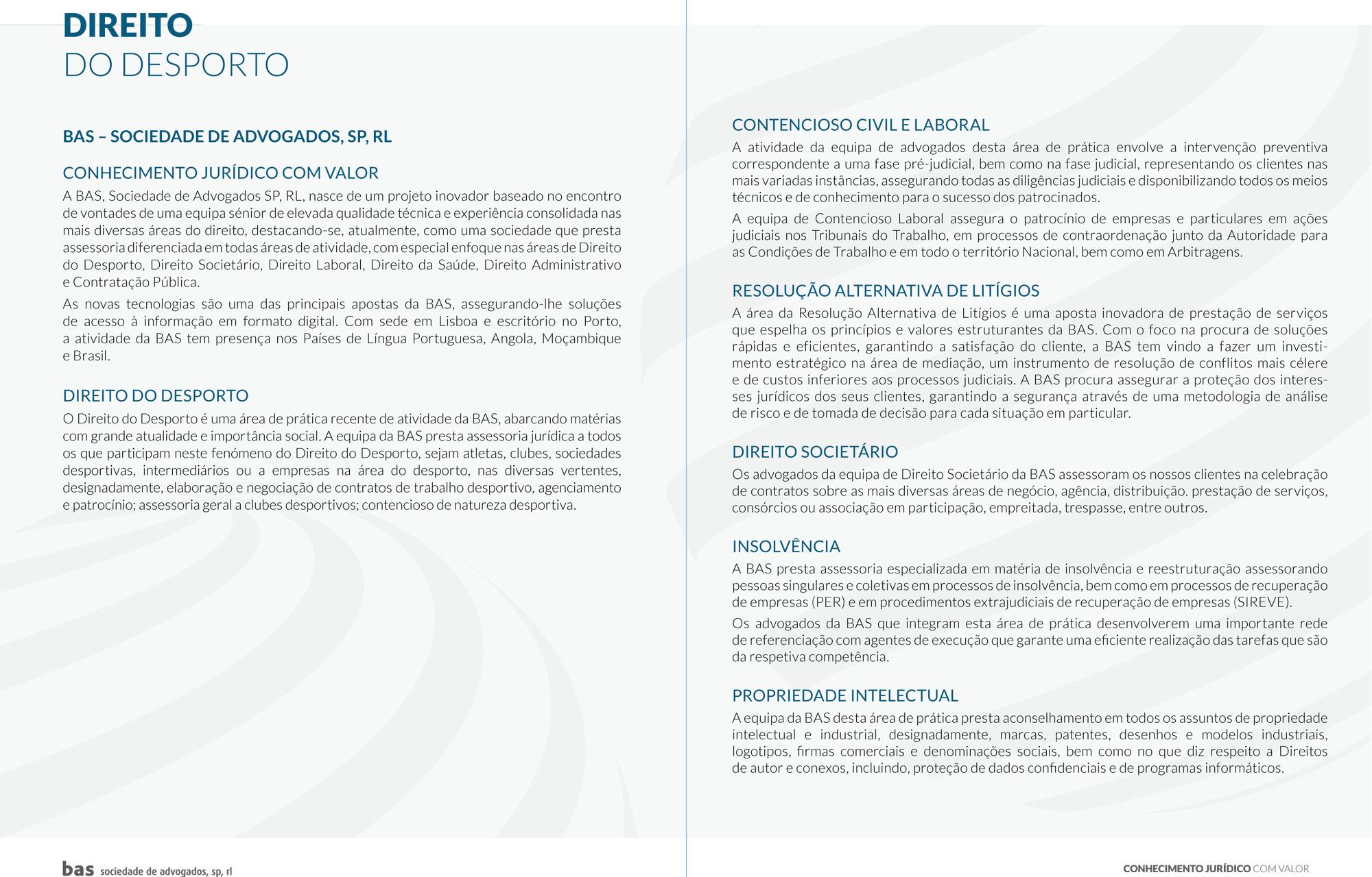 direito do desporto bas brochura bas sociedade de advogadosbas